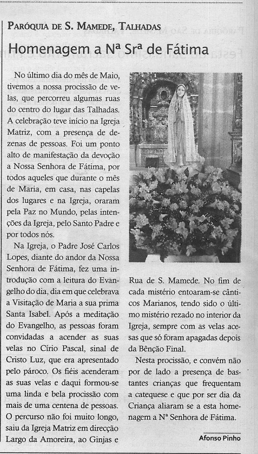 TV-jun.'19-p.12-Paróquias : Paróquia de de São Mamede, Talhadas : homenagem a Nª Srª de Fátima.jpg