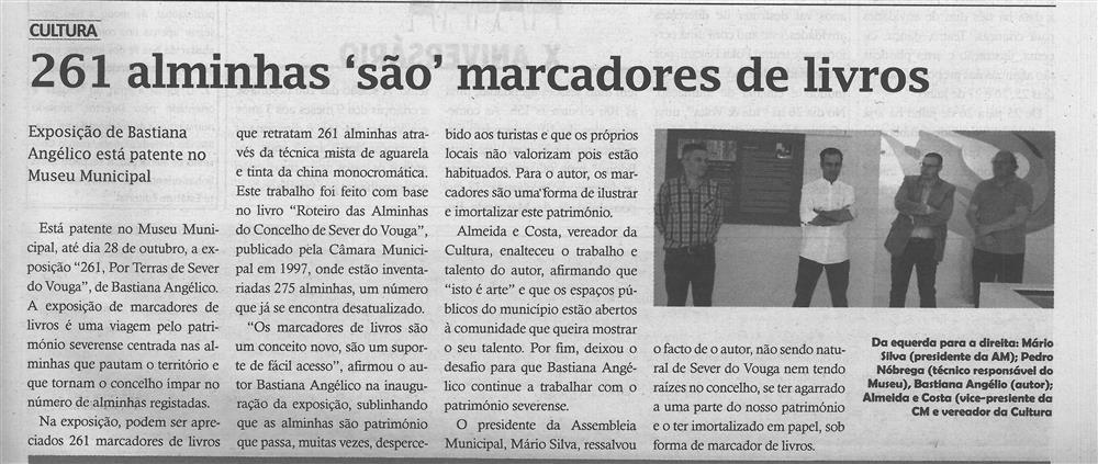 TV-jul.'19-p.3-261 alminhas são marcadores de livros : exposição de Bastiana Angélico está patente no Museu Municipal.jpg