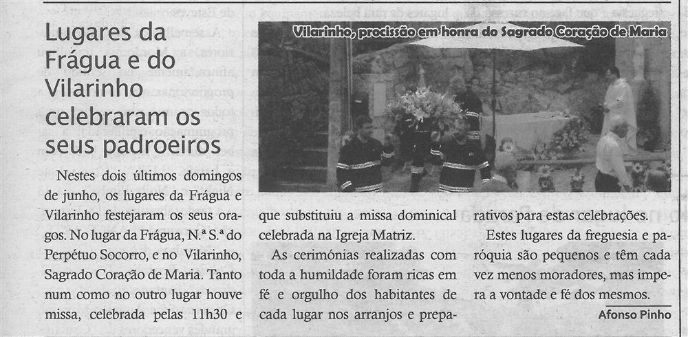 TV-jul.'19-p.15-Lugares da Frágua e do Vilarinho celebraram os seus padroeiros : paróquias e freguesias : Paróquia de S. Mamede, Talhadas.jpg