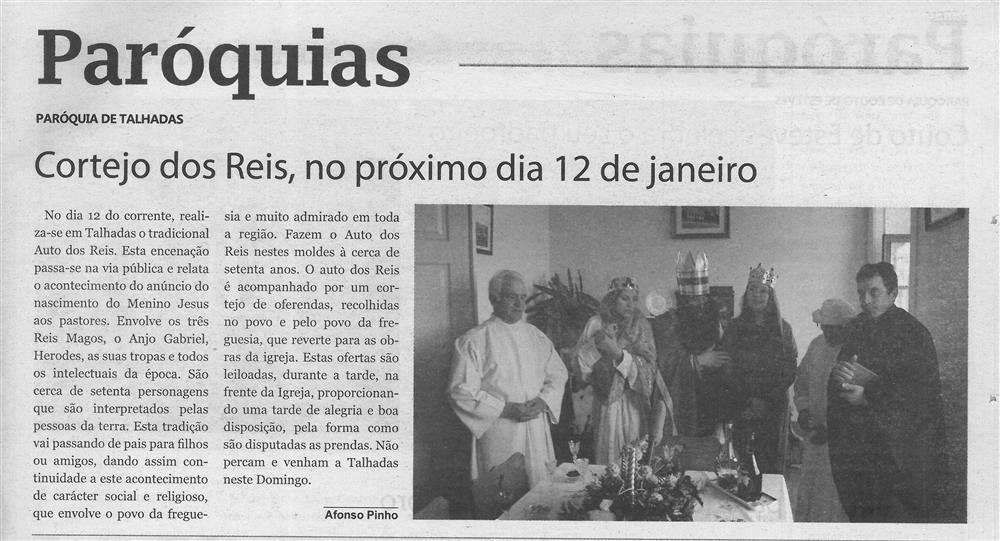 TV-jan.'20-p.12-Paróquias : Paróquia de Talhadas : Cortejo dos Reis, no próximo dia 12 de janeiro.jpg