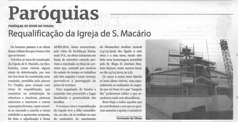 TV-jan.'20-p.15-Paróquias : Paróquia de Sever do Vouga : requalificação da Igreja de S. Macário.jpg