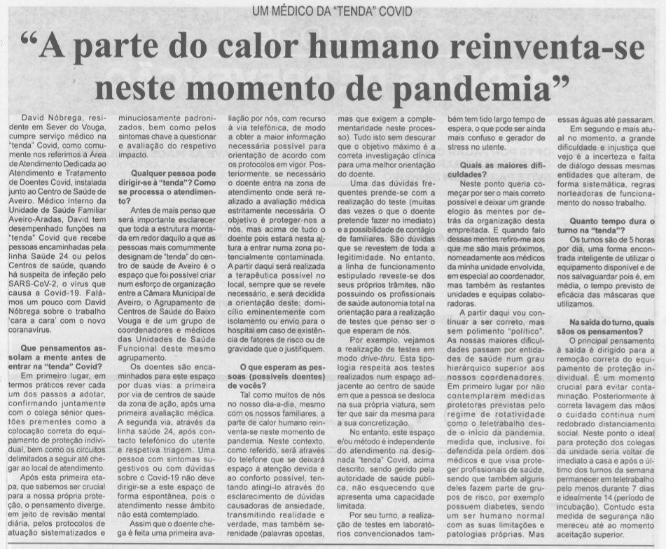 BV-2.ªabr.'20-p.10-A parte do calor humano reinventa-se neste momento de pandemia : um médico da tenda Covid.JPG