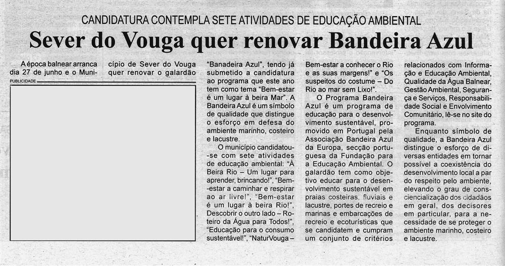 BV-2.ªmar.'20-p.4-Sever do Vouga quer renovar Bandeira Azul : candidatura contempla sete atividades de educação ambiental.jpg