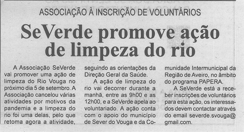 BV-2.ªago.'20-p.7-SeVerde promove ação de limpeza do rio : Associação [apela] à inscrição de voluntários.jpg