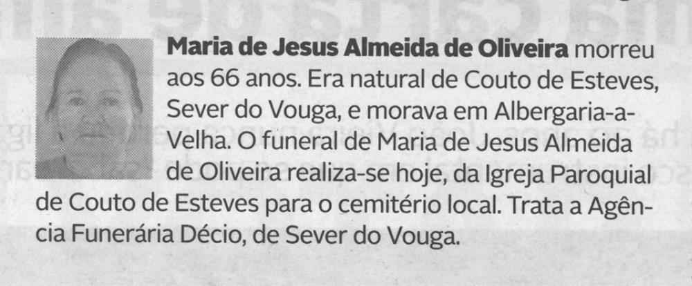 DA-21jan.'21-p.9-Sever do Vouga : Maria de Jesus Almeida de Oliveira.JPG