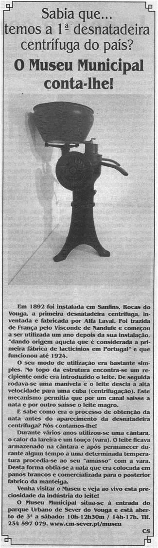 BV-2.ªjan.'21-p.6-O Museu Municipal conta-lhe : sabia que temos a 1.ª desnatadeira centrífuga do país.jpg