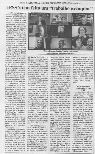 BV-1.ªfev.'21-p.6-Rotary homenageou e reconheceu instituições severenses : IPSS's têm feito um trabalho exemplar.JPG