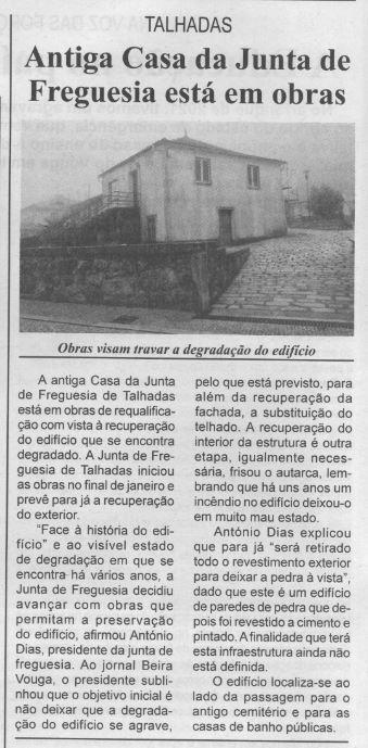 BV-1.ªfev.'21-p.6-Talhadas : antiga casa da Junta de Freguesia está em obras.JPG