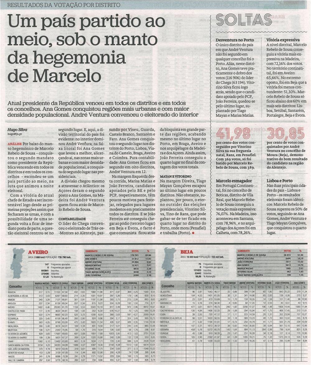 JN-25jan.'21-'primeiro plano',p.15-Um país partido ao meio, sob o manto da hegemonia de Marcelo : resultados da votação por distrito.jpg