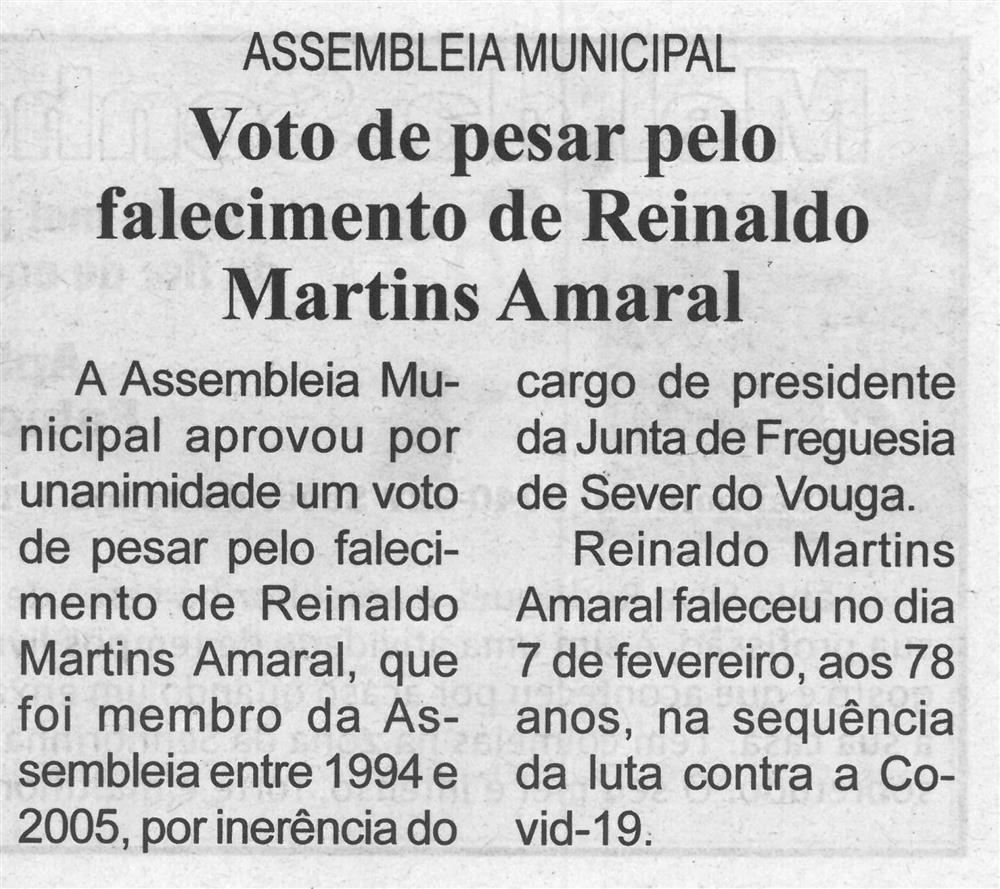 BV-1.ªmar.'21-p.5-Assembleia Municipal : Voto de Pesar pelo falecimento de Reinaldo Martins Amaral.jpg