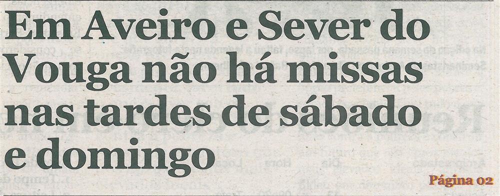 CV-11nov.'20-p.1-Em Aveiro e Sever do Vouga não há missas nas tardes de sábado e domingo.jpg