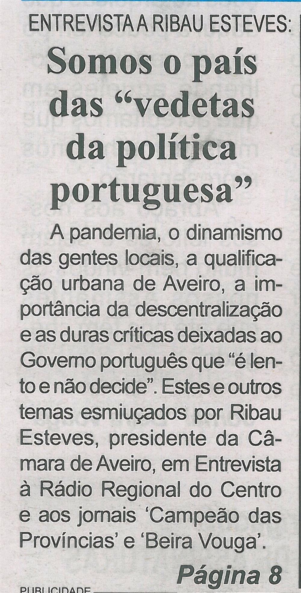 BV-1.ªmaio'21-p.1-Entrevista a Ribau Esteves : somos o país das vedetas da política portuguesa.jpg