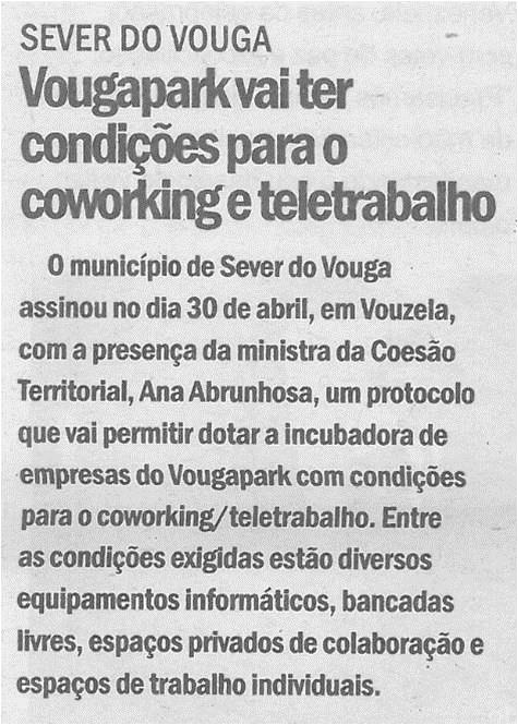 CV-05maio'21-p.6-Sever do Vouga : VougaPark vai ter condições para o coworking e teletrabalho.jpg