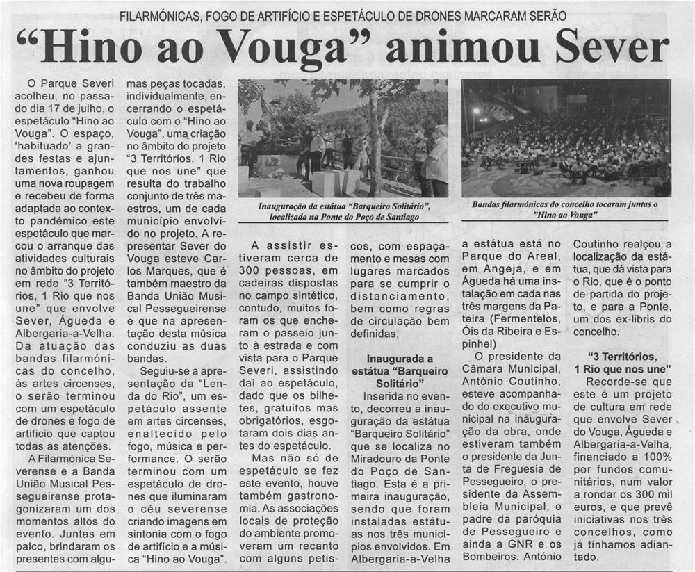 BV-2.ªjul.'21-p.9-Hino ao Vouga animou Sever : filarmónicas, fogo de artifício e espetáculo de drones marcaram serão.jpg