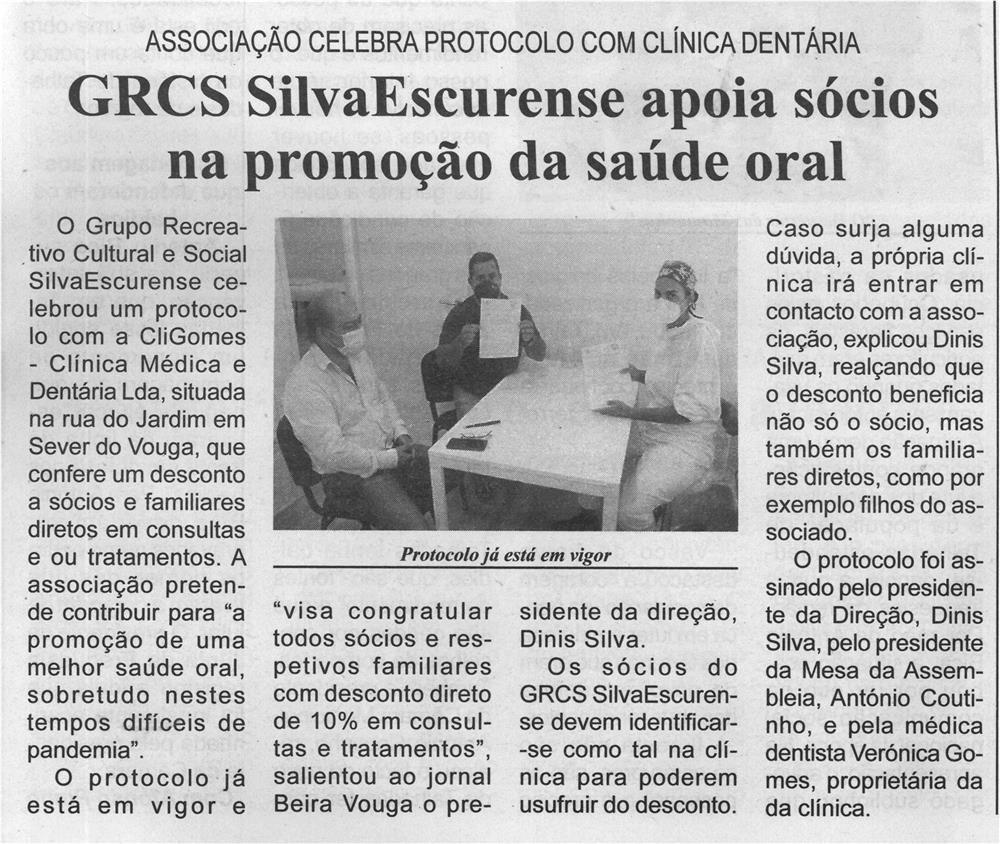 BV-2.ªjul.'21-p.3-GRCS SilvaEscurense apoia sócios na promoção da saúde oral : Associação celebra protocolo com clínica dentária.jpg