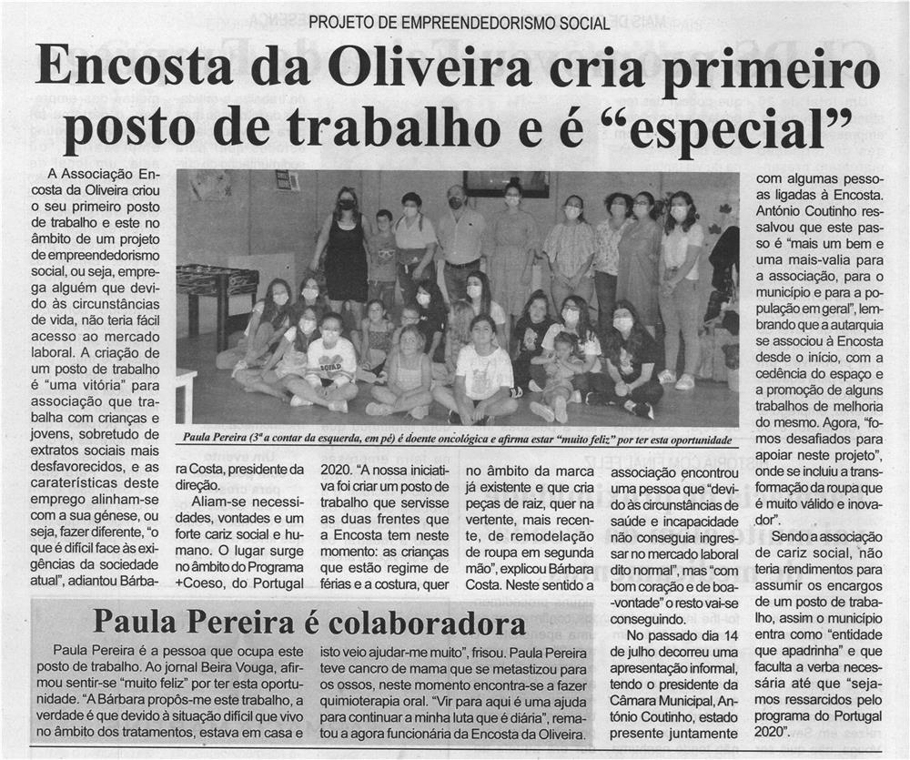 BV-2.ªjul.'21-p.8-Projeto de empreendedorismo social : Encosta da Oliveira cria primeiro posto de trabalho e é especial.jpg