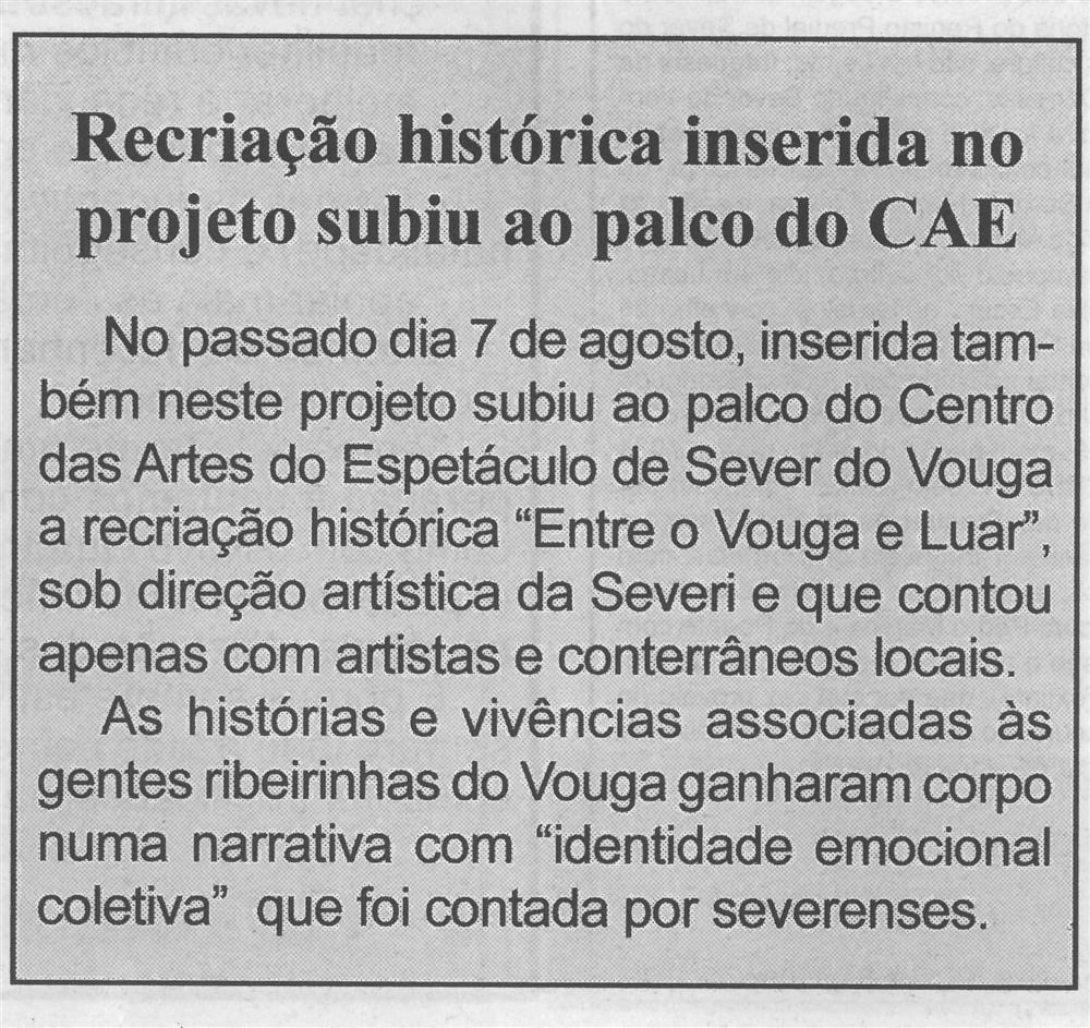 BV-1.ª set. '21-p. 6-Recriação histórica inserida no projeto subiu ao palco do CAE.jpg