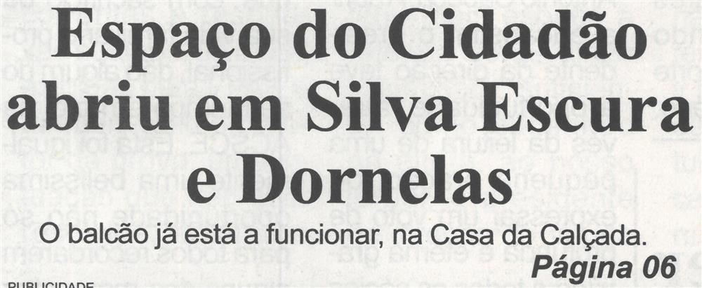 BV-2.ª set. '21-p. 1-Espaço do Cidadão abriu em Silva Escura e Dornelas.jpg