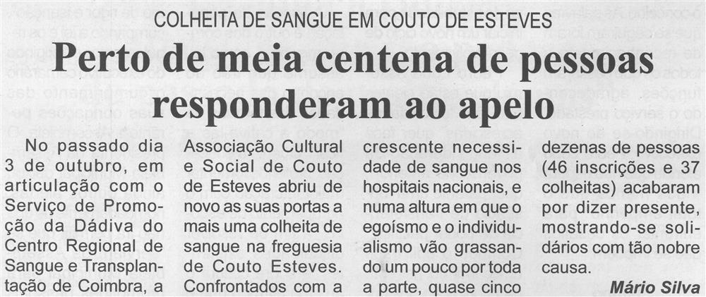 BV-Ano 59, n.º 1171 (2.ª quinzena out. 2021), p. 4-Colheita de sangue em Couto de Esteves : perto de meia centena de pessoas responderam ao apelo.jpg